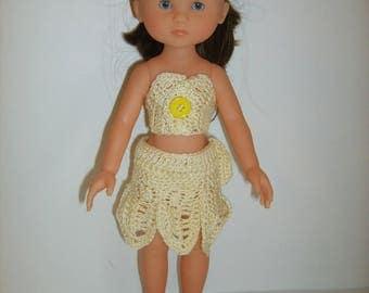 Petals and skirt top headband doll 33cm