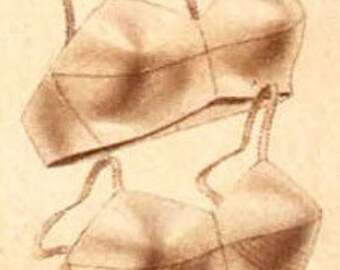 Custom Drawn Bra Pattern Tailored to Fit YOU!