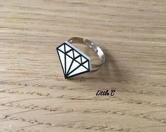 Shrink plastic ring / crazy - diamond pattern - series PLASTOK