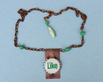 Like Pop Bottle Top & Copper Necklace