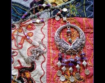 """Ethnic necklace, boho, Bohemian """"Abaga"""""""