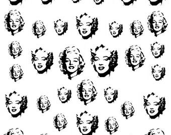 Set Water Decals Marylin Monroe Nail nail art stickers tattoo vintage stickers sheet