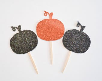 pumpkin cupcake topper, pumpkin party, pumpkin birthday, little pumpkin,  little pumpkin party, halloween cupcake topper, halloween party