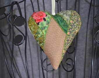 heart hanging fabric patch