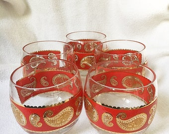 Culver mid-century modern bar glasses - set of 5