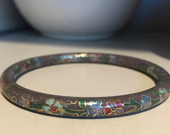 Vintage cloisonné bangle