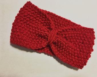 Red Knit Headband