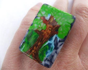 """68 ring """"with my tree..."""""""