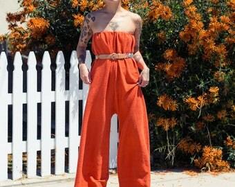 Orange Jumpsuit / One-Piece