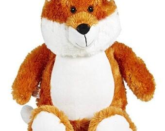 Personalized stuffed Fox