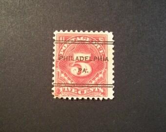 1930 Vintage* Old Postage Due Stamp**Philly Postmark**Pre- Cancelled*Scott #J64*Nice Collectors Item*
