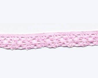 Lace pink polycotton