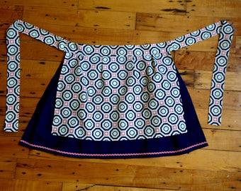 Apron - Handmade, 1970s geometric pattern
