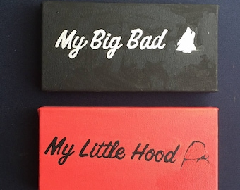 My Big Bad/ My Little Hood- Big/Little Canvases