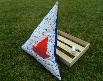 Boat cushion little sailors! EN bottles