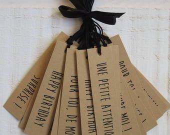 Set of 20 labels Kraft gift Tag