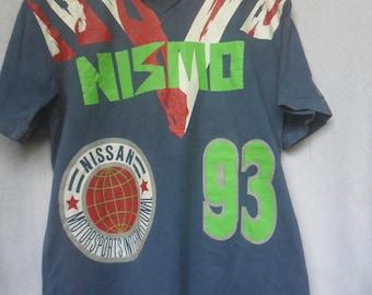 Vintage Nismo Collared Shirt//Nissan Motorsport International//Big Logo//Made in Japan