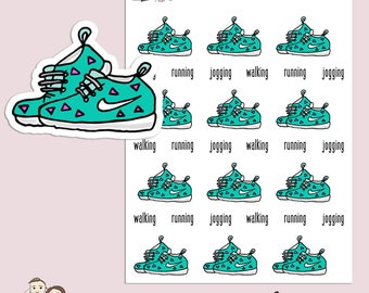 WALKING RUNNING JOGGING | Planner Stickers | Work Out | Exercise | Fitness | Erin Condren | S49