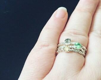 Swarovski style rings