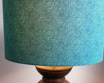"handmade lampshade in Liberty ""Tom Daley"" fabric. 40cm drum shade."