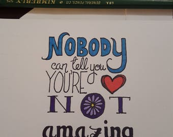 Just because inspirational motivational card