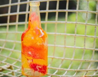 Single Wine Bottle Lantern - Hanging Candle - Hanging Lantern - Gifts for Mom - Housewarming Gift