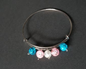 Transgender Adjustable Bangle Bracelet
