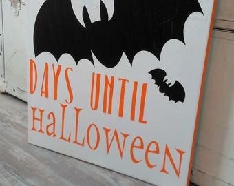 Days Until Halloween Sign Halloween Countdown HALLOWEEN