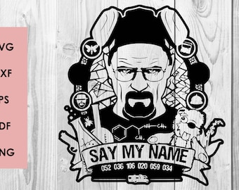 Breaking Bad SVG, Breaking Bad DXF PNG cutting file, Printable, T-shirt Design, Scrapbooking Clipart