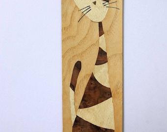 Cat bookmark / inlay