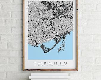 Toronto Map Print, Toronto Print, Toronto Map, Toronto Poster, Toronto Art, Modern Map Print, Map of Toronto, Toronto City Map