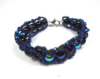 The Spacelet- Cosmic Inspired Flat Stitch Bracelet
