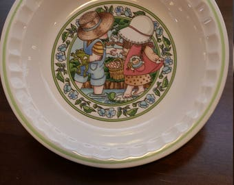 Country Kids Collector's Recipe Plate