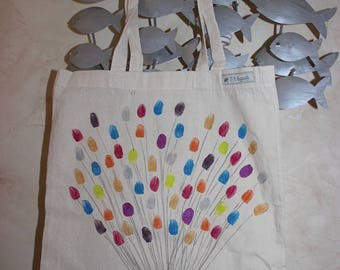 Tote bag multicolored balloons