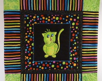 Quilted Wall Hanging - Cool Kat