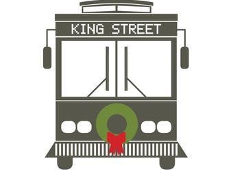 King Street Trolley Holiday Card