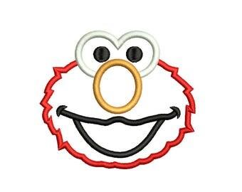 Elmo Applique Design - 4,5 inch size instant download