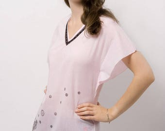 Sophie pink top with pattern T40