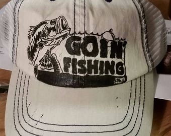 Goin' fishing hat baseball hat