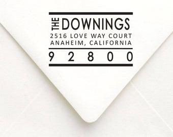 Custom Return Address Stamp, Personalized Self Inking Address Stamp, Wedding Gift, Custom Name Rubber Stamp