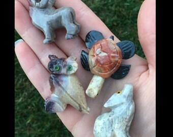 Hand Carved Soapstone Animal Figurines