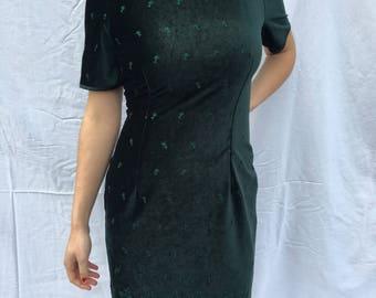 Emerald Velvet Holiday Dress