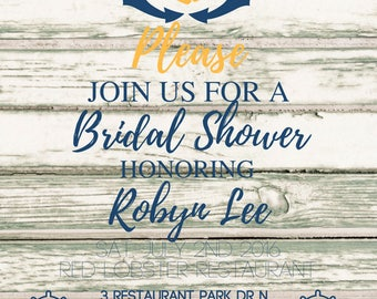 Nautical Bridal Shower Invite