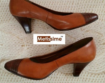 100% leather shoes handmade 6 cm heel