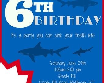 Shark birthday party Etsy
