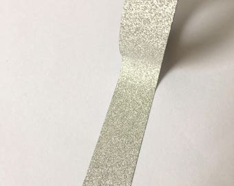 Washi tape beautiful silver glitter // Decoration Festive Gift wrapping Masking Bullet Journal holiday Wedding engagement Magic Sparkling