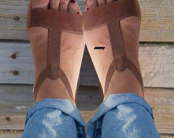 Sandals Womens,Womens Sandals, Leather Sandals,Greek Sandals.Handmade Sandals.Classic Sandals, Special Brown, ALEXANDRA