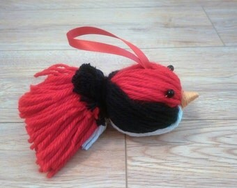 The Yarn Bird, Yarn Bird Ornament, Bird Ornament, Nature, Christmas Ornament, Housewarming Gift, Housewarming, Christmas Decor, Yarn, bird