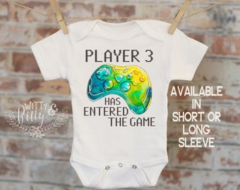 Player 3 Has Entered The Game Onesie®, Funny Onesie, Video Game Onesie, Gamer Onesie, Cute Baby Bodysuit, Cute Onesie, Boy Onesie - 392P