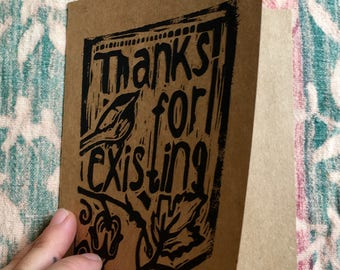 "Chickadee says - ""Thanks for existing"""